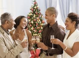 Holiday mingling