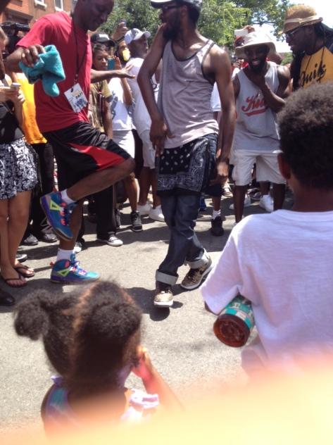 Dancing in street