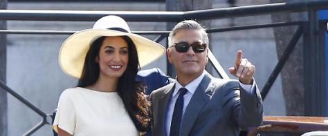 George Clooney e Amal Alamuddin sposi a Venezia: la cerimonia civile in Comune